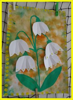 Lily of the valley Spring Crafts For Kids, Spring Projects, Art For Kids, Art Projects, Preschool Crafts, Easter Crafts, Kids Crafts, Origami, Flower Crafts