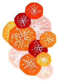 Citrus Print by shopannshen on Etsy