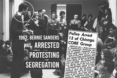 As a member of CORE (Congress on Racial Equality) back in Bernie Sanders risked his own liberty to demonstrate that  Bernie Sanders For President, Racial Equality, Pro Choice, Social Issues, Civil Rights, Stand Up, Politics, Education