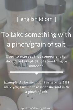 English idioms English Tips, English Idioms, English Phrases, English Writing, English Words, English Lessons, Learn English, English Grammar, Vocabulary Builder