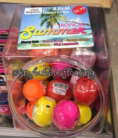 Spotted at Walgreens: Revo  Tropical Summer lip balm collection for summer 2015