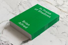 Brian Alfred — In Praise of Shadows Book — designed by Aurore Chauve