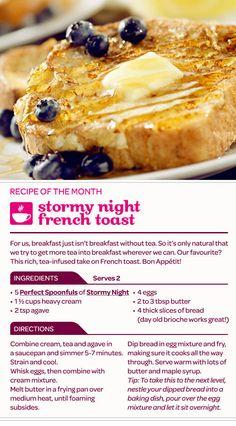 Twitter / DAVIDsTEA: Stormy Night French Toast!? ...