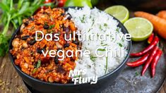 Chili sin Carne – Das ultimative vegane Chili Chili Sin Carne, Grains, Curry, Rice, Ethnic Recipes, Food, Youtube, Healthy Desserts, Vegetarian Recipes