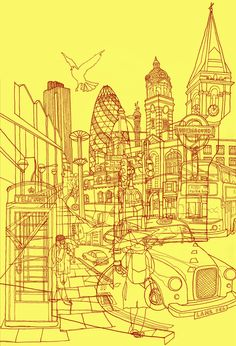 something like this would make an interesting tattoo... line art of a favorite city