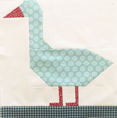 """My Farm Girl Vintage quilt just wasn't complete without a Duck block! Lori Holt didn't release one with her book or on her retreats so I created one!  We have runner ducks on our farm, so the Said With Love duckie block is designed after our ducks.  This is for a downloadable PDF pattern of 9 pages with detailed instructions and pictures to explain how to create the block.  It finishes at 12"""" square (12 1/2"""" inches unfinished) so will fit in with the rest of the Farm Gi..."""