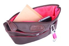 Our small bagINbag's are available on www.insjo.com - this version is called Inari and is Raspberry Pink on the inside and Chocolate Brown on the outside. It comes with a custom Insjo keyring.