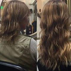 Talk about a #beforeandafter #hairtransformation! From thin #shorthair to long #balayage locks! We give this @hotheadshairextensions #makeover 2 thumbs way up!