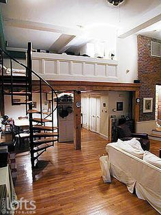 Mezzanine in loft apartment, Boston