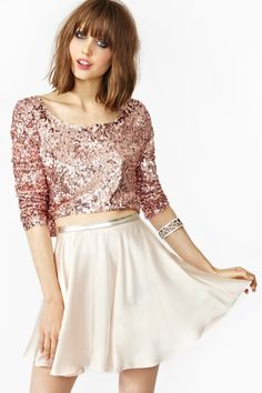 not a fan at all of the top but LOVE the skirt!In Your Dreams Skirt in Blush