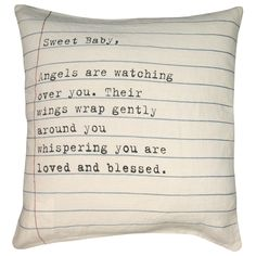 Sugarboo Designs Pillow Sweet Baby Letter from @Layla Grayce #laylagrayce #sugarboo #vintage #pillow