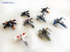 Xwing technic study | 8 mini Xwing built with different tech… | Didier Burtin | Flickr