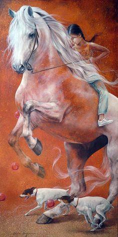 Tutt'Art@ | Pittura * Scultura * Poesia * Musica |: Chelìn Sanjuan 1967 | Spanish Magical Realism painter
