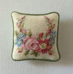 miniature petit point pillow