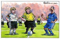 Germany vs Greece Euro 2012 or European financial crisis Germany Vs, Euro 2012, Greece, Cartoon, Baseball Cards, Sports, Fictional Characters, Funny Stuff, Politics