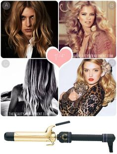 1 1/4 INCH IRON》awsome tutorials on different size curling iorns for different Looks ♡♡♡