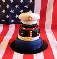 Marine Corp cake, maybe to celebrate when Christopher is home/finished his enlistment??