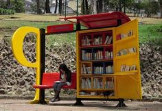 Pop-up library. Visit the slowottawa.ca boards: http://www.pinterest.com/slowottawa/