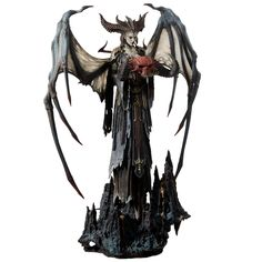 "Diablo Lilith 24.5"" Premium Statue Alien Creatures, Fantasy Creatures, Diablo Lilith, Diablo Cosplay, World Of Warcraft Merchandise, Vampires, Myths & Monsters, Xingu, Alien Concept Art"