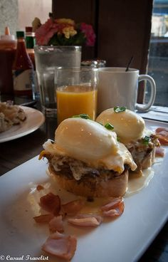 Stanley, located near the St. Louis Cathedral, serves up elevated American and Creole comfort food. Since the good times in New Orleans roll long into the night Stanley offers its signature breakfast menu all day. The Breaux Bridge Benedict- french bread topped with housemade boudin, gooey American cheese and 2 perfectly poached eggs. Can't think of a better way to wake up in New Orleans.