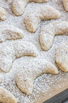 This Vanillekipferl Recipe is made without eggs or baking powder! A tradtional German Christmas Cookie that is so tender and perfect for cookie exchanges.