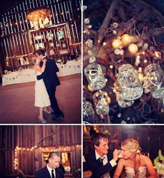 Dance at barn wedding reception. i .love this!