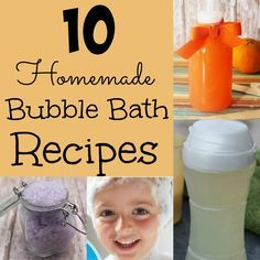 Here is a round-up of Homemade Bubble Bath recipes for you to enjoy. We have recipes for homemade bath salts, bath bombs, bath paint and more.