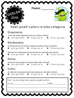 be wp-content uploads 2017 01 doelen-stellen. School Classroom, School Teacher, Primary School, Elementary Schools, Co Teaching, Teaching Skills, Teach Like A Champion, Visible Learning, Class Dojo