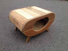 niche chien chat design thierry marc vintage bois recyclé