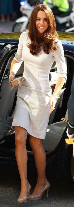 Kate Middleton, Duchess of Cambridge via @esusansmith. #dresses #KateMiddleton: