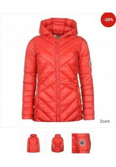 Geci de dama de iarna ieftine: Geaca rosie cu gluga SoulCal Winter Jackets, Clothes, Fashion, Winter Coats, Moda, Winter Vest Outfits, Clothing Apparel, Fasion, Clothing