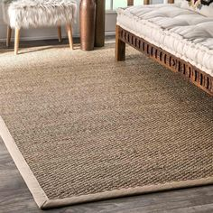 The Nuloom Elijah Seagrass Rug has a natural and earthy aesthetic with an intriguing texture softened by a thick border. Made entirely of Seagrass, use to add a rustic and down to earth vibe to any space while also providing durability and hypoallergenic properties. #NewArrivals
