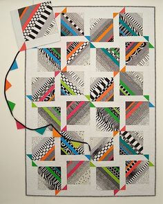 Modern quilting explorations and modern quilt patterns. Scrap Quilt Patterns, Modern Quilt Patterns, Modern Quilting, Scrappy Quilts, Easy Quilts, Kite Tail, Black And White Quilts, Patriotic Crafts, July Crafts