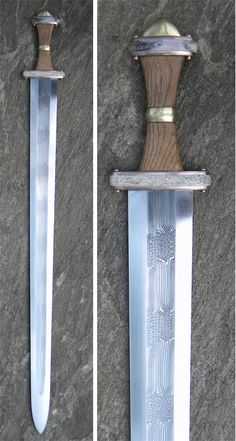 Pattern welded migration period sword by Michael Pikula
