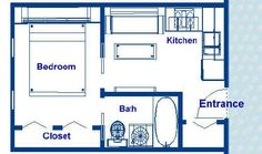 200 square foot ocean liner stateroom floor plans, Cabin approximately 12' x 18' with an island bed, separate bath, kitchenette, designer appliances and open living area, side entrance, and adequate storage, not a cruise ship.