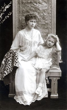"antique-royals: ""Queen Marie of Romania and her daughter Mignon """