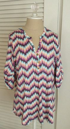 Totally something I would wear.  From someone's May 2014 Fix.  Pomelo Edmond Chevron Print Henley Shirt $54