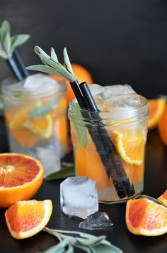 Sarahs Krisenherd: {Happy Hour} Blood Orange & Sage Mule