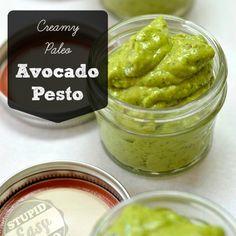 avocado pesto-my honey might like this (w/Zucchini pasta?)