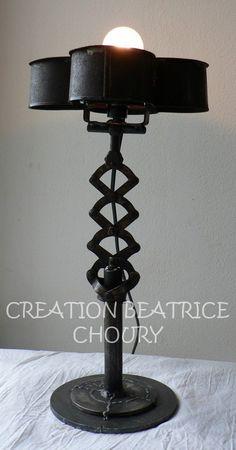 Création lampe récup Marguerite de Béatrice Choury pour www.week-end-alatelier.fr