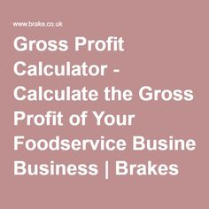 Use our gross profit calculator to work out wholesale food and drink prices and calculate the gross profit of your foodservice business. Wholesale Food, Food Vans, Accounting And Finance, Kabobs, Food Service, Calculator, Food And Drink, Business, Skewers