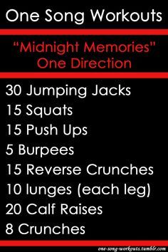 One Direction one song workout