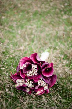 Colorful calla lily bouquet.