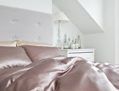 Silk Sheet - 100% Mulberry Silk Bed Sheets from Silksleep Single Dusky Pink | Silksleep