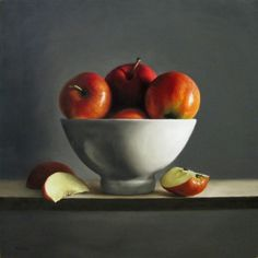 Bowl of Apples, painting by artist Michael Naples