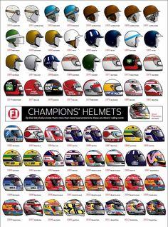 F1 World Champion helmets