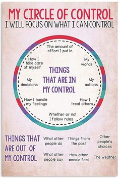 Circle Of Control, Positive Self Affirmations, The Great, Mental And Emotional Health, Self Care Activities, Coping Skills, School Counseling, Self Improvement, Awakening