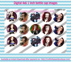 """1"""" Bottle Caps (4X6) F197 cher floyd celebrities bottle cap images #celebrities #bottlecap #BCI #shrinkydinkimages #bowcenters #hairbows #bowmaking #ironon #printables #printyourself #digitaltransfer #doityourself #transfer #ribbongraphics #ribbon #shirtprint #tshirt #digitalart #diy #digital #graphicdesign please purchase via link http://craftinheavenboutique.com/index.php?main_page=index&cPath=323_533_42_60"""