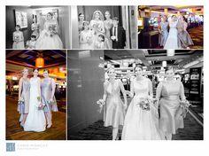 Bride Walking Through Casino in Aliante Casino Las Vegas