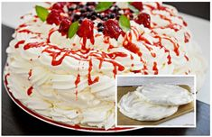 Pavlova, Cheesecake, Ethnic Recipes, Food, Baby Animals, Cupcake, Basket, Mascarpone, Bakken